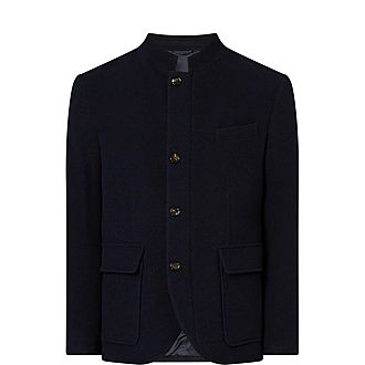 Stand Collar Wool Jacket