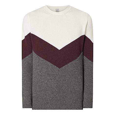 Cashmere Colour Block Sweater, ${color}