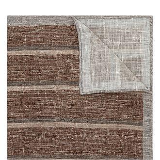 Striped Linen Pocket Square