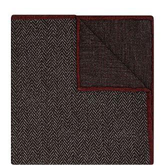 Zig-Zag Print Pocket Square