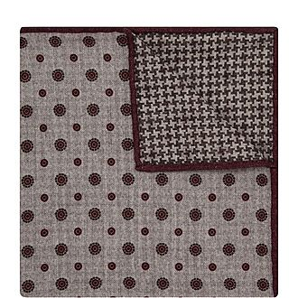 Geometric Floral Pocket Square