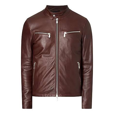 Leather Biker Jacket, ${color}