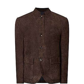 Suede Button Jacket