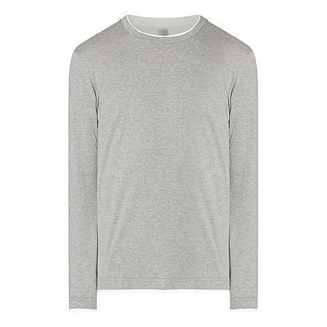 Melange Long Sleeve T-Shirt, ${color}