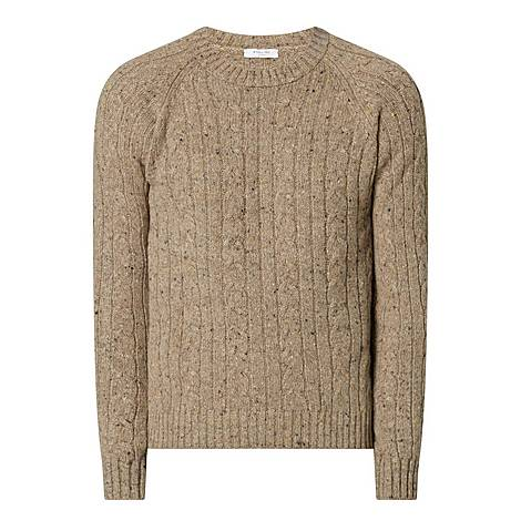 Cashmere and Wool Cable Knit Sweater, ${color}