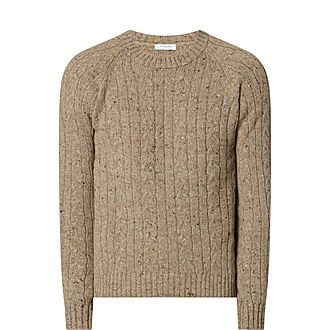 Cashmere and Wool Cable Knit Sweater