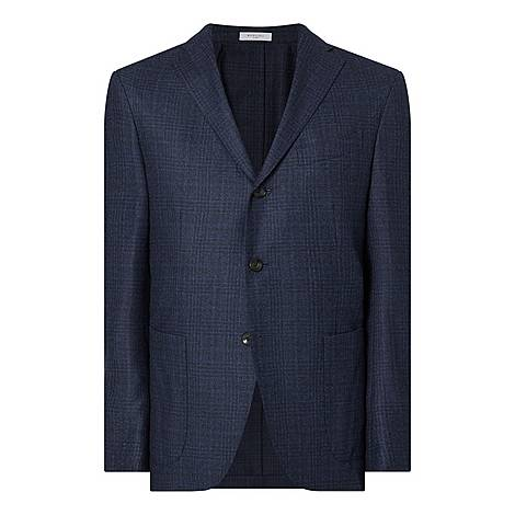 Checked Wool Jacket, ${color}