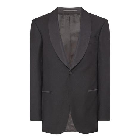 Shawl Collar Dinner Jacket, ${color}