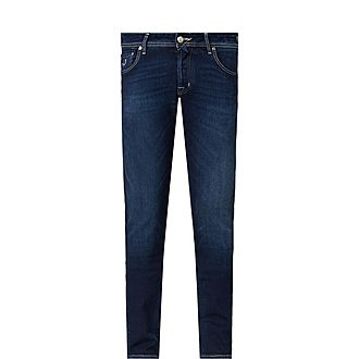 Slim White Badge Jeans