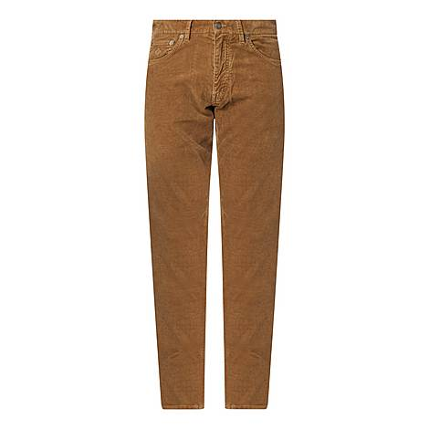 Cord Staight Leg Trousers, ${color}