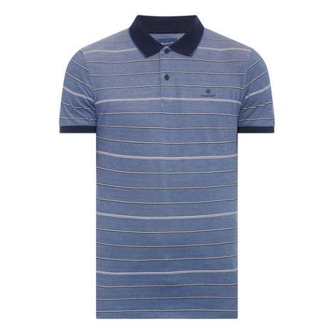 Oxford Stripe Polo Shirt, ${color}