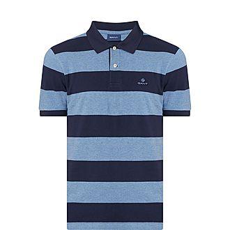 Block Striped Polo Shirt