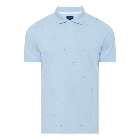 Surfer Embroidered Polo Shirt, ${color}