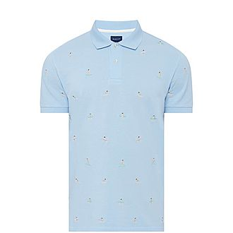 Surfer Embroidered Polo Shirt