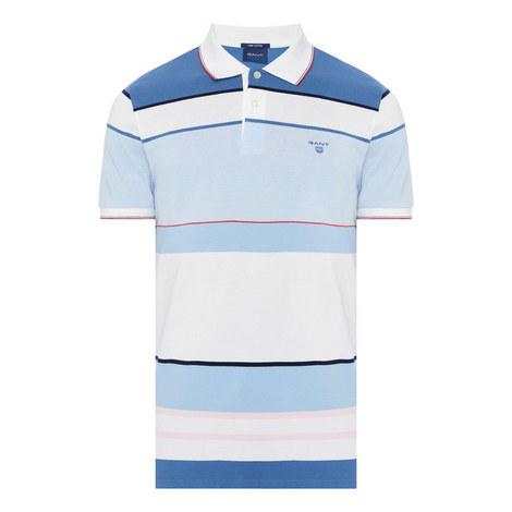 Wide Stripe Polo T-Shirt, ${color}