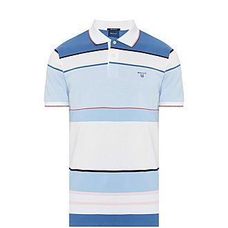 Wide Stripe Polo T-Shirt