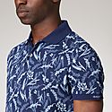 Palm Print Piqué Polo Shirt, ${color}