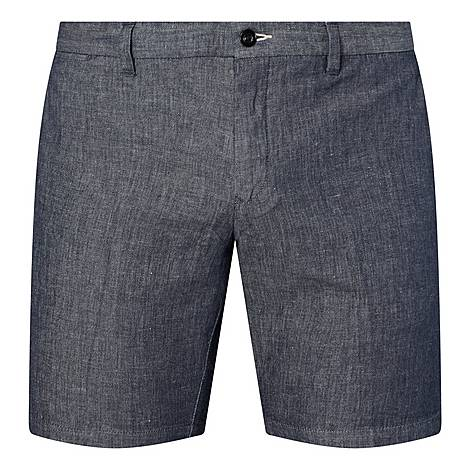 Chambray Tailored Shorts, ${color}