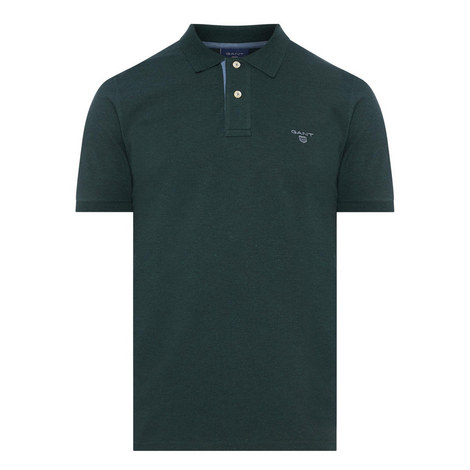 Contrast Collar Piqué Polo Shirt, ${color}
