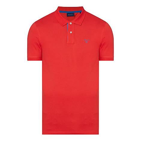 Contrast Collar Polo Shirt, ${color}