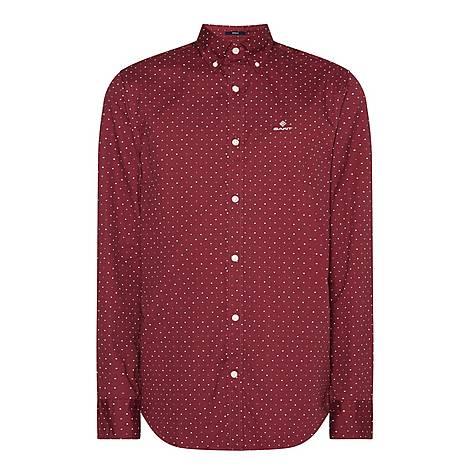 Micro Dot Oxford Shirt, ${color}