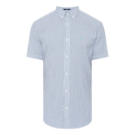 Seersucker Striped Shirt, ${color}