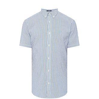 Seersucker Striped Shirt