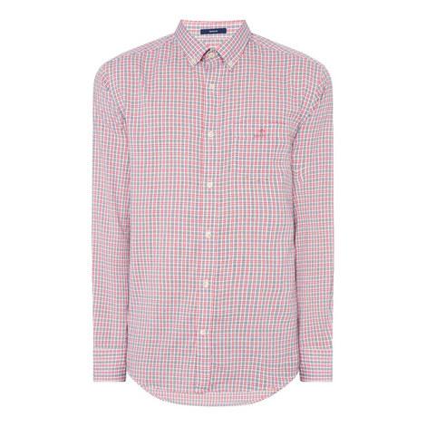 Windblown Check Oxford Shirt, ${color}