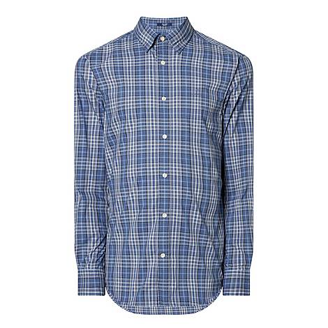 Casual Plaid Shirt, ${color}