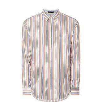 Multi-Stripe Poplin Shirt