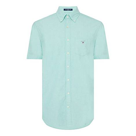 Short Sleeve Oxford Shirt, ${color}