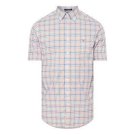 Broadcloth Gingham Short Sleeve Shirt, ${color}