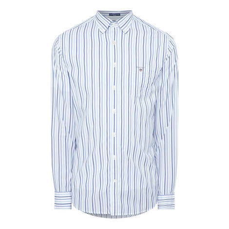Broadcloth Striped Shirt, ${color}