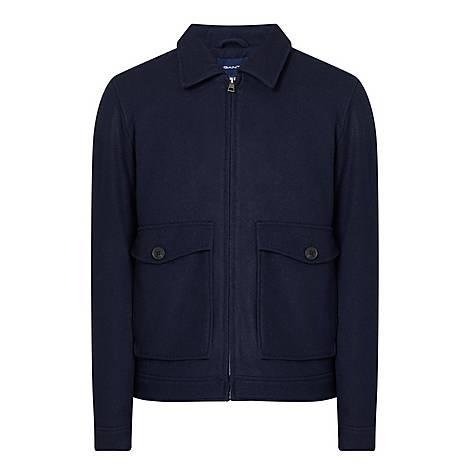 Wool Windcheater Jacket, ${color}