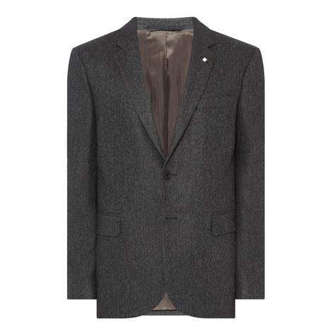 Herringbone Single-Breasted Blazer, ${color}