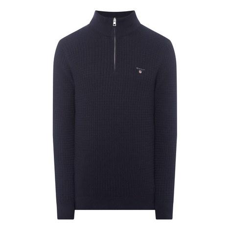 Textured Half-Zip Sweater, ${color}