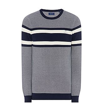 Breton Stripe Crew Neck Sweater