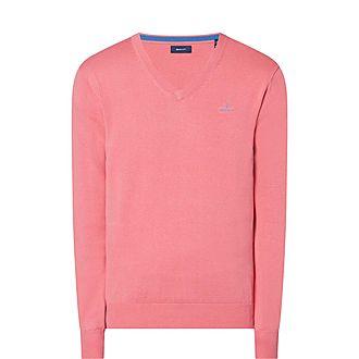 V-Neck Cotton Sweater