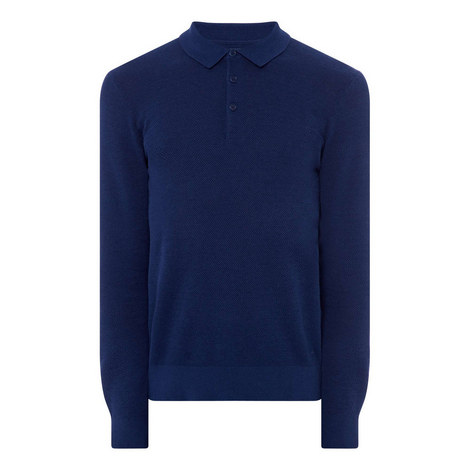Cotton Cashmere Textured Sweater, ${color}