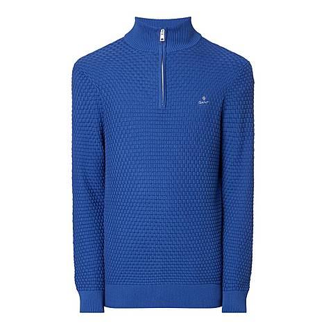 Signature Weave Half-Zip Sweater, ${color}