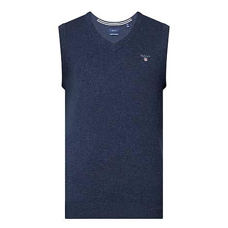 V-Neck Lambswool Vest, ${color}