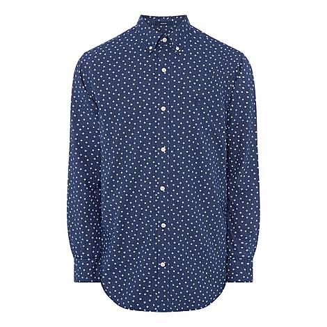 Snowflake Print Shirt, ${color}