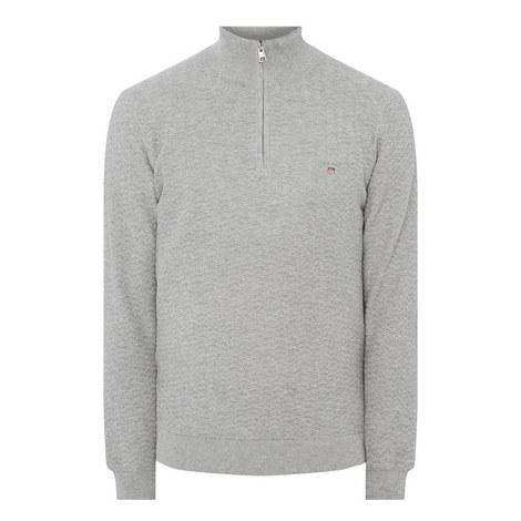 Herringbone Half-Zip Sweater, ${color}