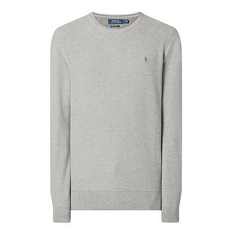 Textured Pima Cotton Sweater, ${color}