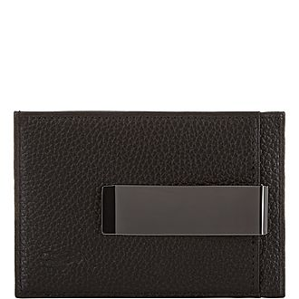 Pebbled Leather Money Clip