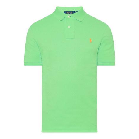 Slim Fit Pique Polo Shirt, ${color}