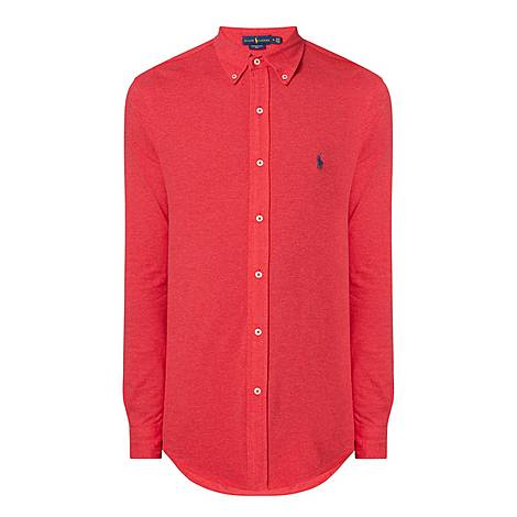 Featherweight Mesh Slim Fit Shirt, ${color}