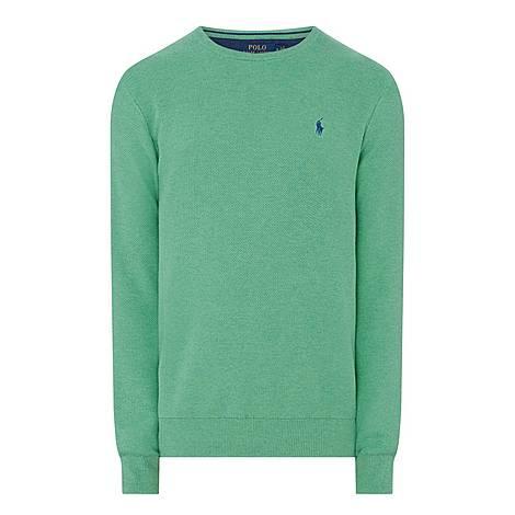 Pima Textured Crew Neck Sweater, ${color}