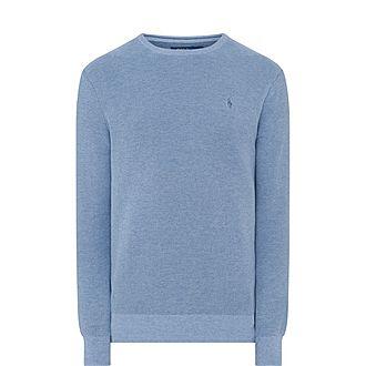 Pima Textured Crew Neck Sweater