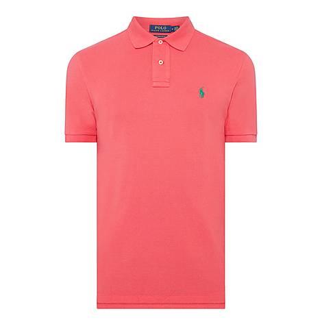 Custom Mesh Slim Polo Shirt, ${color}